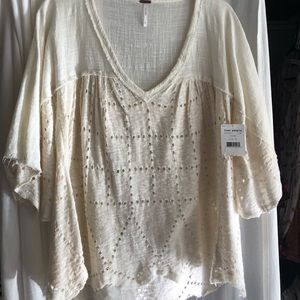 Free People cream blouse